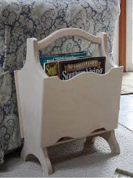 Unfinished Wood Magazine Holder Simple Wooden Magazine RackUnfinished Magazine RackWood Magazine Rack