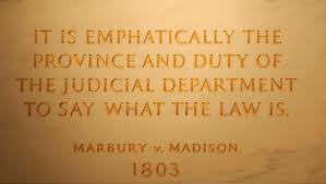 marbury v madison it s role in american history and it s long  first floor at the statute of john marshall quotation from marbury v madison