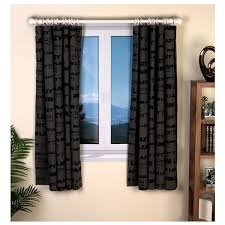 plain lazy dj bedroom cotton curtains set 66 x 54 inches black no1brands4you