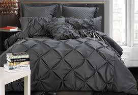 Fantine Charcoal Quilt Cover Set in King / Queen Size | ONLINE ... & Luxton Fantine Charcoal Diamond Pintuck Quilt Cover Set Adamdwight.com