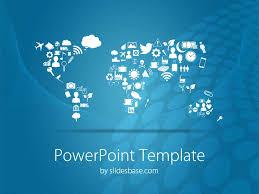 Symbolic World Map Powerpoint Template Slidesbase