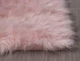 Light Pink Fluffy Rug Serene Faux Fur Shag Rug Light Pink 2 X 3 Pink Fur Rug