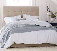 tufted upholstered bed. Jenner Square Upholstered Tufted Bed