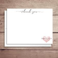 Heart Note Cards Flat Wedding Stationery Heart Wedding Note Cards Wedding Thank You Notes Bridal Shower Thank You Any Color Heart