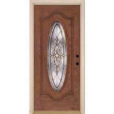 silverdale brass full oval lite stained medium oak left