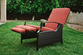 furniture outdoor recliner reclining lawn chair costco most comfortable with footrest chaise lounge patio