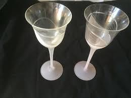 details about 6 vintage 9 tulip calla lily pink frosted base stem wine glasses elegant