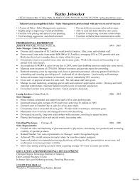 Retail Manager Cv Template Resume Examples Job Description Retail