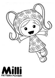 Small Picture Milli and Her Pattern Power in Team Umizoomi Coloring Page Color