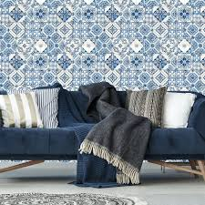 roommates mediterranian tile repositionable and removable l and stick wallpaper at