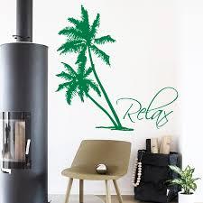 Palm Tree Decor For Living Room Vinyl Stickers Wall Decals Bonsai Tree Decal Vinyl Sticker Yin