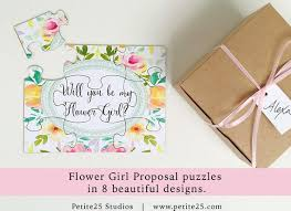 Party Proposal Simple Will You Be My Flower Girl Puzzle Bridal Party Proposal Etsy