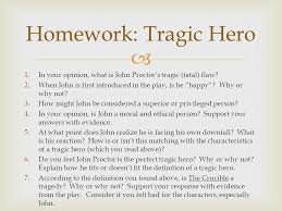 what do you need  pick up composition notebook  daily handout  in your opinion what is john proctor s tragic fatal flaw