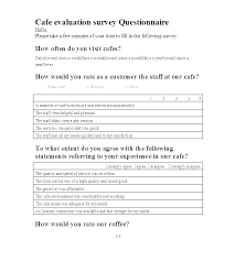 Sample Questionnaire Format For Survey Customer Satisfaction Survey Sample Questionnaire Example Of