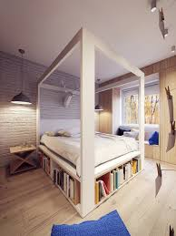 view in gallery four poster canopy bed with bookshelves thumb autox839 52413 18 wooden bedroom designs to envy
