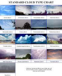 Worksheet Cloud Types Chart Meteorology Clouds Cloud Type
