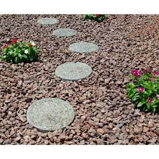 classic stone 12 in x 1 5 in round exposed aggregate pathway