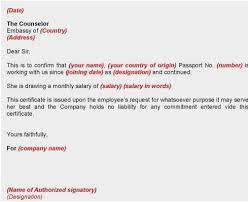 Salary Certificate Letter Sample Beautiful Visa For The Big C