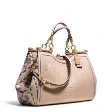 Lyst - Coach Madison Pinnacle Carrie Satchel in Python Embossed ...