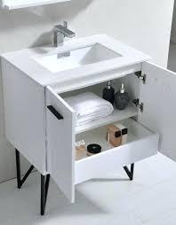 bathroom vanity with quartz countertop white high gloss modern w