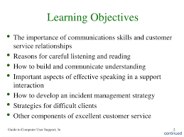 Ppt Chapter 3 Customer Service Skills For User Support