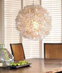 decorative warm white capiz shell hanging pendant light chandelier