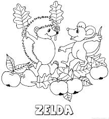 Zelda Egel Naam Kleurplaat
