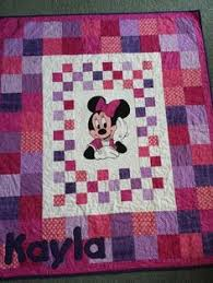 Minnie Mouse Quilt and Mickey Mouse Quilt Disney Themed Toddler ... & Minnie mouse cot quilt www.facebook.com/KATNAPquilts Adamdwight.com