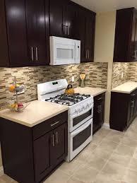 Espresso Cabinets Kitchen Design Espresso Kitchen Cabinets With White Appliances