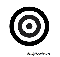 target vinyl decal choose size color