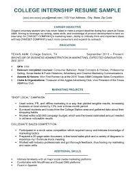 Resume For Internships Template Intern Resume Example College Student Internship Resumes Sample For
