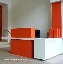 office reception desk furniture best small ideas on salon modern design acrylic solid surface hi macs