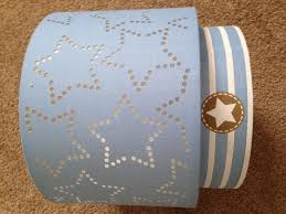 next boys blue stars stripes 2 tier lampshade