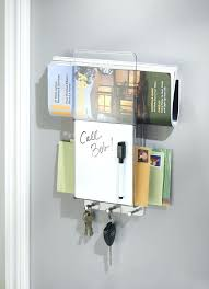 office key holder. Mail Letter Holder Key Rack Organizer For Entryway Kitchen Wall Mount Divided White Office Products And Black
