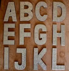 20cm aluminium a z letters alphabet