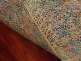 swedish woven vintage cotton linen rag rug runner with fringes set 2pc 6