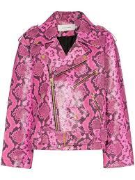 marques almeida python effect leather biker jacket