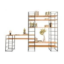 tower shelving system black