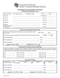 Performance Management Program Planning And Evaluation Form