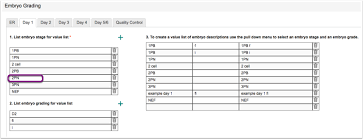 Embryo Grading Chart Initial Setup Enter Your Labs Embryo Grading System