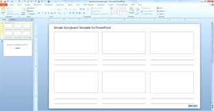 storyboard template free download sample storyboard template free documents download in powerpoint