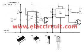 simple brake light flasher circuit com modified brake light flasher circuit