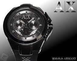 amonduul rakuten global market in armani birthday present 【送料無料】アムマーニ エクスチェンジ armani exchange 腕時計 メンズ ax1050 クロノグラフ ブラック ブラック