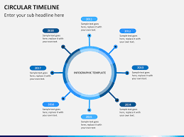 Timeline Powerpoint Slide Circular Timeline