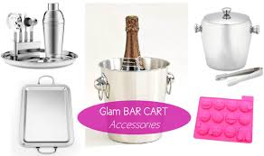 Bar Accessories And Decor MG Decor Update Your Cocktail Style With These Glam Bar Cart 57