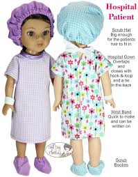 Hospital Gown Pattern Simple Doll Tag Clothing Hospital Patient 484848 Doll Clothes Pattern