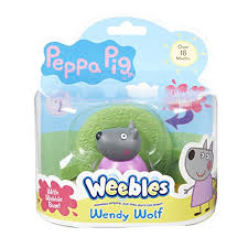 Peppa Pig Weebles Wobbily Figure And Base Wendy Wolf- Buy Online in Albania  at albania.desertcart.com. ProductId : 21038434.