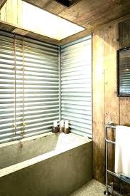 corrugated tin walls sheet metal bathroom in the features old c