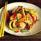 chicken and papaya stir fry