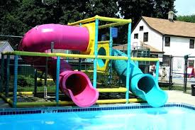 Outdoor pool with slide Above Ground Commercial Pool Slides Outdoor Swimming With London Swimming Pool Slides Homes Of The Rich Outdoor Playground Swimming Pool Tube Plastic Slide Slides Marion